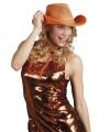Feestartikelen oranje cowboyhoed