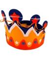 Vilten kroon rood, wit, blauw, oranje